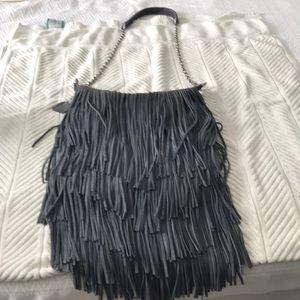 Grey Italian suede purse